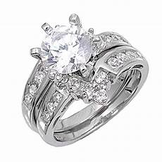 sterling silver custom engagement ring wedding band bridal cz sizes 4 12 ebay