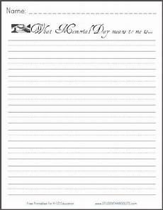 memorial day free printable writing prompt for holidays free printable