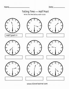 half past time worksheets for grade 1 3568 worksheet time to the quarter hour printable worksheets and activities for teachers parents