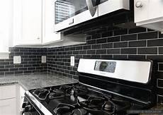 Black Backsplash Kitchen