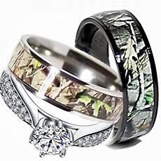 mens womens camo engagement wedding rings silver titanium size men 10 9