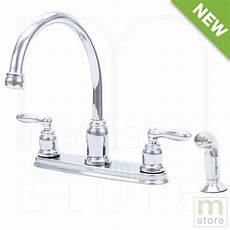 Faucet With Side Spray by 2 Handle High Arc Chrome Kitchen Faucet With Side Spray