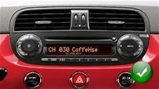 fiat 500 abarth 2005 2016 car radio blue me touchscreen