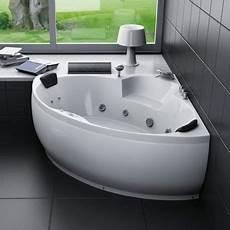 baignoire balneo 2 places baignoire baln 233 o d angle 2 places 150x150cm pas cher