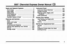 car maintenance manuals 2007 chevrolet express electronic toll collection 2007 chevrolet express owners manual just give me the damn manual