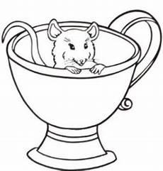 Malvorlagen Tassen Kostenlos Maus In Tasse Ausmalbild Malvorlage Tiere