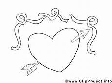herz mit pfeil valentinstag ausmalbild