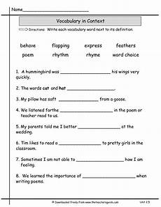 13 best images of vocabulary practice worksheets 3rd
