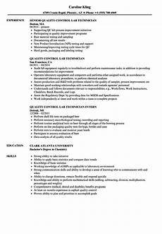 resume for quality control