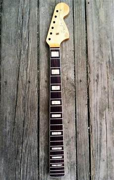 jaguar neck block inlays 1966 fender jazzmaster neck w binding and block inlay