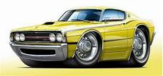 1969 ford torino gt classic muscle car art print new ebay
