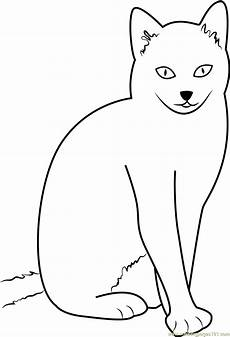 Katze Sitzend Malvorlage Cat Sitting With Style Coloring Page Free Cat Coloring