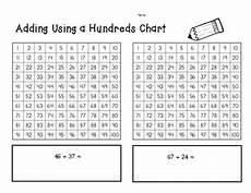 addition worksheets hundreds 8879 2 digit addition using a hundreds chart practice worksheet by 4 baers