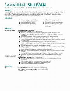 best hr coordinator resume exle livecareer