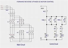forward 3 phase ac motor control circuit diagram electrical engineering updates