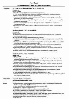 big data analytics resume sles velvet jobs