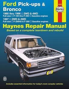 auto repair manual online 1992 ford f series parking system ford f100 f150 f250 f350 bronco repair manual 1980 1997