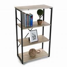 etagere a poser sur bureau etagere de bureau a poser structure metal noir et bois 4 niveaux versa 20880067