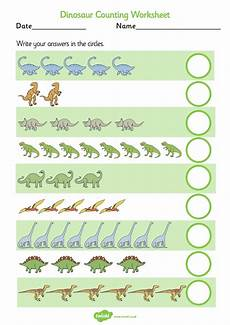 dinosaurs counting worksheets 15283 printables