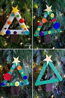 Weihnachten Basteln Grundschule - basteln mit eisstielen und kn 246 pfen christbaumschmuck in