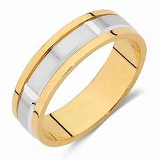 men s wedding band in 10kt yellow white gold