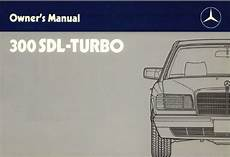 1993 mercedes benz 300sd w126 owners manual download manuals mercedes benz w126 owners operators manuals