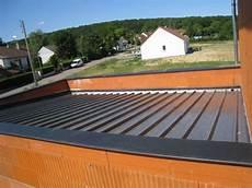 toit plat en tole ex bac acier faux plat garage toit plat toit plat et