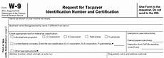 form w 9 request for taxpayer identification number and certificate