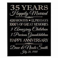 35 Year Wedding Anniversary Gift Ideas For Parents