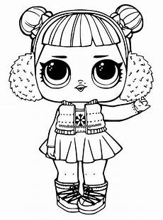 n coloring page l o l dolls snow