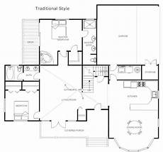 smartdraw house plans floor plans traditional floor plan exle smartdraw