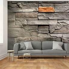 steinwand tapete wohnzimmer vlies fototapete stein optik steinwand grau ziegel tapete