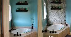 i need some ideas for a bathroom accent diy glass tile accent wall in master bathroom hometalk