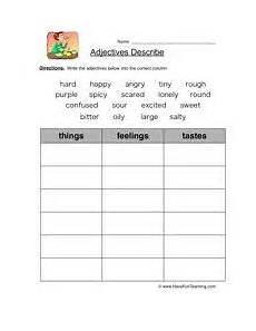classifying nouns worksheets for 3rd grade 7977 food adjectives homeschool grammar worksheets worksheets and food