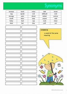 64 free esl synonyms worksheets