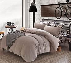zebra striated flano velour duvet cover set thickened winter full queen king size bedding set
