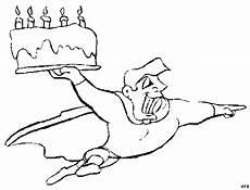 superheld mit kuchen ausmalbild malvorlage comics