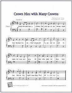 crown him with many crowns sheet music for easy piano p
