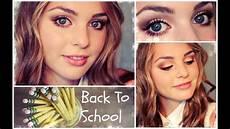 look school glam back to school makeup look