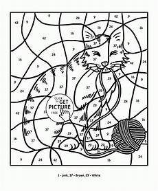color by number coloring pages math 18060 color by number cat coloring page for education coloring pages printables free wuppsy