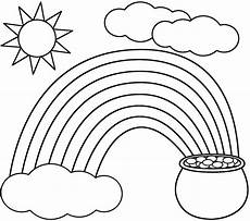 rainbow coloring page kids dream of rainbows with pots of gold at the with images st