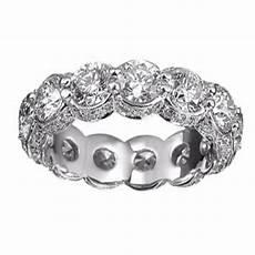 6 00 ct ladies round cut diamond eternity wedding band ring