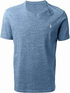 lyst polo ralph custom fit t shirt in blue for