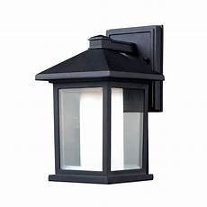 shop z lite mesa 10 in h black outdoor wall light at lowes com