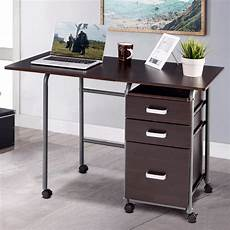 compact home office furniture goplus folding computer laptop desk wheeled home office