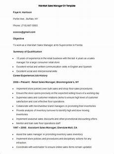 sle wal mart sales manager cv template write your resume much easier with sales resume