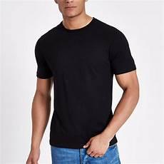 black slim fit crew neck t shirt river island