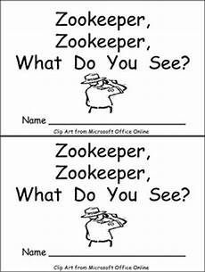 zoo keeper worksheets zookeeper what do you see emergent reader kindergarten