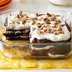 double chocolate toffee icebox cake recipe taste of home