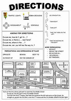 giving directions worksheets esl 11669 places in town directions worksheet free esl printable worksheets made by teachers